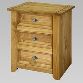 Mendoza 3 Drawer Bedside Table