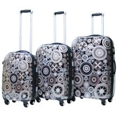 Carnival Expandable Hardsided 3 Piece Spinner Luggage Set
