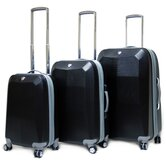 Diamond Expandable Hardsided 3 Piece Luggage Set