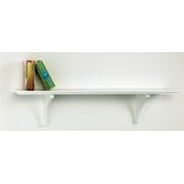 Long Mission Craft Bracket Shelf in White