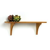Wide Mission Craft Bracket Shelf in Honey Oak