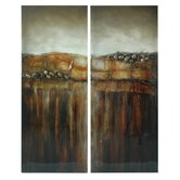 Stretched Canvas Art (Set of 2)