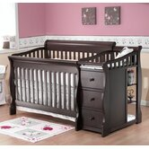 Tuscany 4-in-1  Convertible Crib N Changer in Espresso