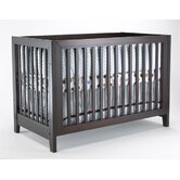 City Lights Commuter Convertible Crib Set in Two Tone White / Esprsso