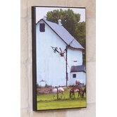 White Barn Wall Clock