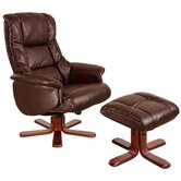 Chicago Luxury Recliner in Nut Brown
