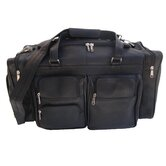 "20"" Leather Carry-On Duffel with Pockets"