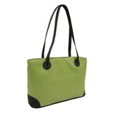 Ladies Computer Tote in Apple with Black Trim