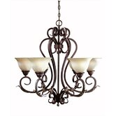 Olympus Tradition 6 Light Chandelier