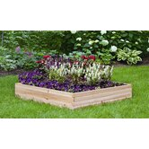 Wood Raised Square Garden Bed Planter