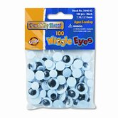 Wiggle Eyes Assortment, Black, 100 Pieces per Pack