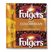 (42 per Carton) Coffee Premeasured Packs, Colombian, Ground, 1.75 oz Packet