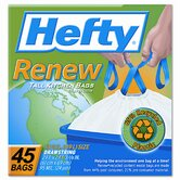(45 per Carton) 13 Gallon Hefty Renew Recycled Kitchen &amp; Trash Bags