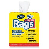 Rag Wipes in a Box, 10 x 13, White, 200 Wipes per Box