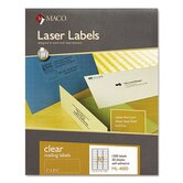 Matte Clear Laser Labels, 1 x 2 5/8, 1500/Box