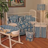 Medallion Blue Crib Bedding Collection