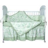 Crib Bedding Collection in Etoile Green
