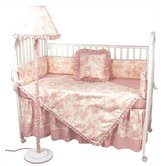 Crib Bedding Collection in Etoile Pink