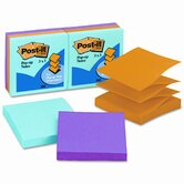 Ultra Pop-Up Refills, 3 x 3, Three Ultra Colors, 6 100-Sheet Pads/pk