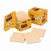 Super Sticky Notes, 4 x 4, Canary Yellow, 12 90-Sheet Pads/pack
