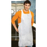 "28"" Polyethylene Apron in White"