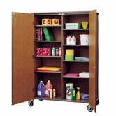 Split Storage Cabinet with Casters