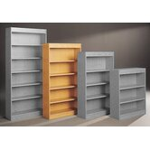 Library 72&quot; H Five Shelf Double Sided Bookcase