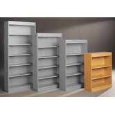 "Library 44"" H Three Shelf Double Sided Bookcase"