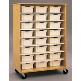 "68"" H Encore Double Sided Shelf Cabinet with Trays"