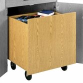 Library Modular Front Desk System - Depressible Book Truck