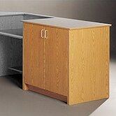 Library Modular Front Desk System - Storage Cabinet with Two Shelves