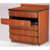 Illusions 30&quot; H Base Drawer Cabinet with Four Drawers