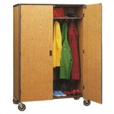 60&quot; H Student Wardrobe Cabinet with Locking Doors