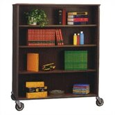 Library 72&quot; H Double Sided Bookcase with Eight Adjustable Shelves