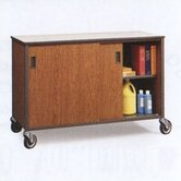 "34"" H Shelf Cabinet with Optional Hinged Doors"