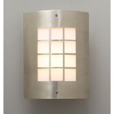 Turin Outdoor  Wall Sconce in Satin Nickel