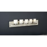 Wyndham Five Light Vanity Light  in Satin Nickel