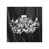 Curls 12 Light Semi Flush Mount in Chrome Metal