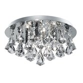 Hanna Four Light Semi Flush Mount in Chrome