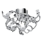 Sparkles Five Light Semi-Flush Ceiling Light in Chrome