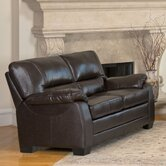 Broadway Italian Leather Leather Loveseat