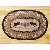 Moose and Pinecone Novelty Rug