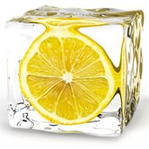Decoglass &quot;Iced Lemon&quot; - 20 x 20cm