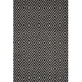 Woven Diamond Black/Ivory Rug