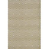 Woven Diamond Khaki/White Rug