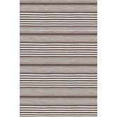 Rugby Charcoal Striped Rug