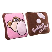 Burst My Bubble Square Pillow in Pink and Brown