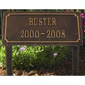 Slate Pet Memorial Two Line Lawn Plaque