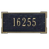 Roanoke Standard Wall Address Plaque