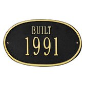 "Date ""Built"" Standard Wall Plaque"